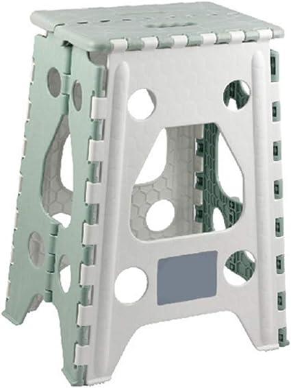 Taburete plegable - Taburete de plástico plegable portátil para niños pequeños Niños y adultos, taburete plegable de baño de jardín de cocina (2 ...