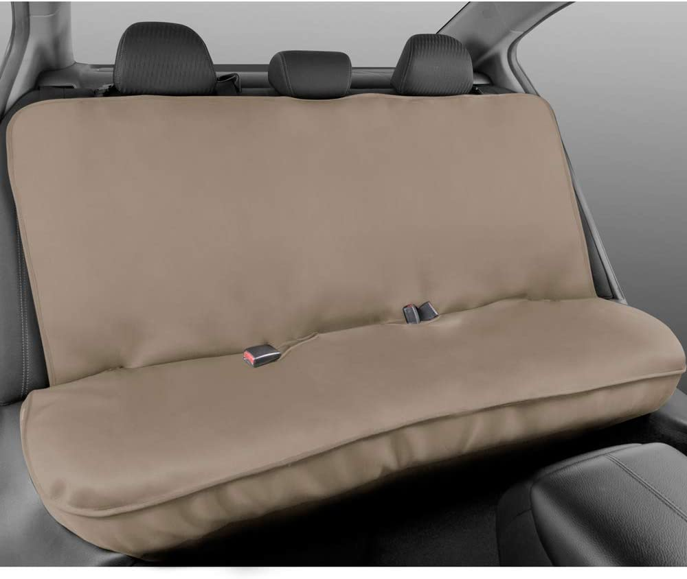 BDK BDSC-278 AllProtect Waterproof Neoprene Rear Bench Seat Cover for Car SUV Truck Quick Install Pets /& Vehicle Protection Utility Heavy Duty Universal Fit Kids for Work Solid Beige
