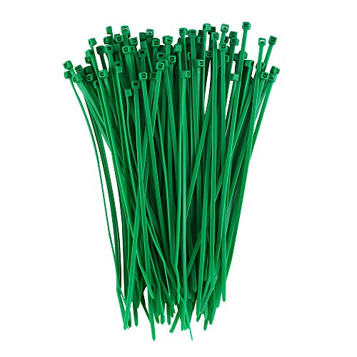 Dxg 100 Pack 4 Inch 2.5 x 100mm Self-locking Zip ties Nylon Cable Ties (Green)