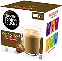 Nescafé Dolce Gusto - Café con leche descafeinado - 3 Paquetes de 16 Cápsulas - Total: 48 Cápsulas