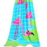 Eleanos Children Cartoon Beach Towel super water-absorbing