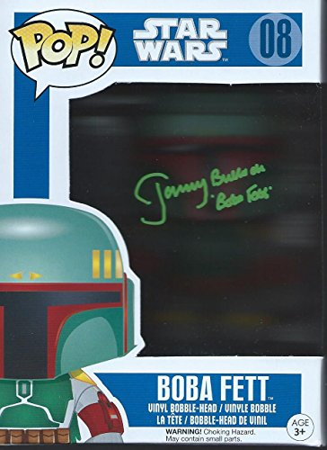 Star Wars Signed Autographed by Jeremy Bulloch as Boba Fett Funko Pop Vinyl Figure (Green Version)