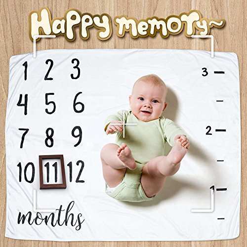 """Baby Milestone Blanket, Ideal Baby Shower Gift for Babies/Newborn/New Mom, 47"""" x 40"""", Create Moments to Memories Watch Me Grow Blanket by NOVEMBER SPRING (Image #5)"""