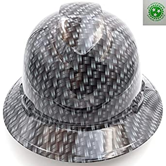 Wet Works Imaging Customized Pyramex Full Brim Metal Weave Carbon