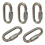 5 PC 5/16'' Stainless Steel Quick Link Chain Rigging Marine 1,760 LBS