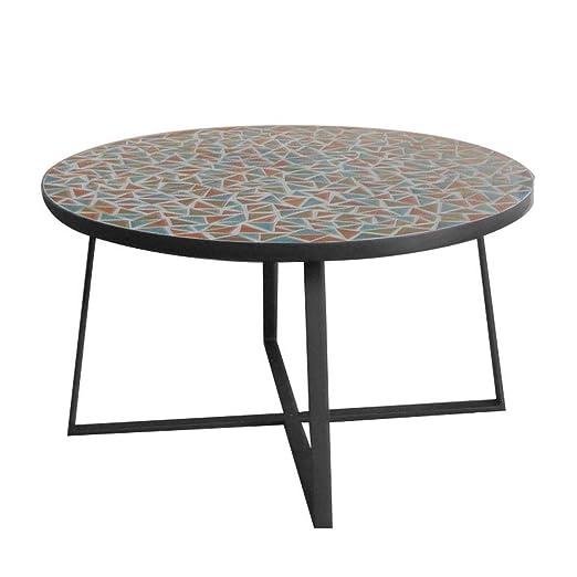Mesa de Centro Mosaico para Exterior de cerámica y Hierro ...