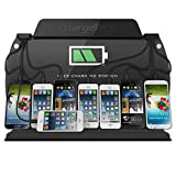 ChargeTech – Wall Mounted Cell Phone Charging Station Dock Hub w/ 8 High Speed Universal Cables for: iPhone, iPad, Samsung Galaxy, Tablets – For Events. Fully Customizable by ChargeTech (Model: WM9)