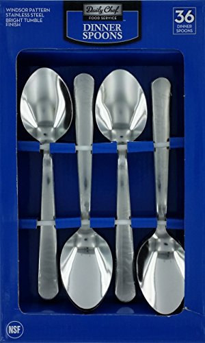 Daily Chef Stainless Steel Dinner Spoons - 36 ct.