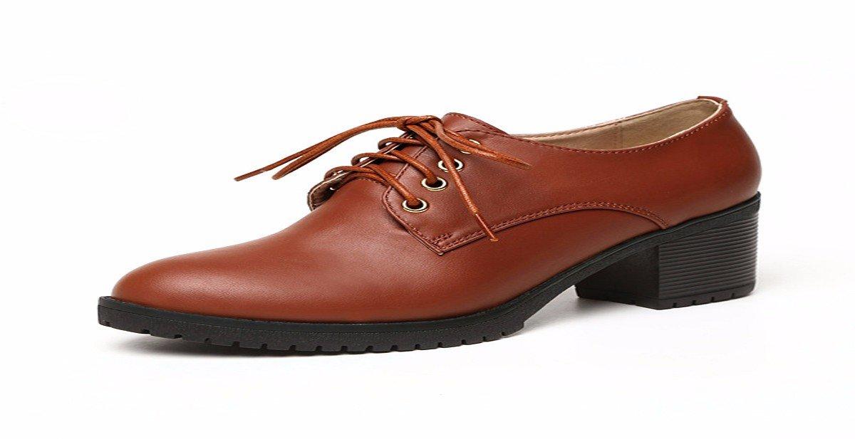HBDLH-Damenschuhe Hochhackigen Schuhe Spitze Schuhe Binden Tiefe Casual Schuhen.