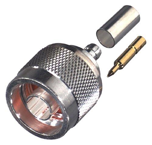Rf Industries  N  Male Crimp  S G T  For Rg 58 U  Cbl Grp C  Rfn 1005 3C