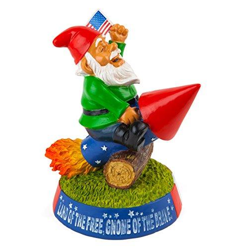 BigMouth Inc Stars n Stripes Garden Gnome, Funny Lawn Gnome Statue, Garden Decoration ()