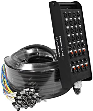 100-Feet Seismic Audio SACB-16x8x100 16-Channel XLR Low Profile Circuit Board Snake Cable