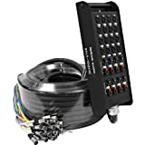 Seismic Audio - SALS-16x8x100 - 16 Channel 100' Pro Stage XLR Snake Cable (XLR & 1/4'' TRS Returns) for Recording, Stage, Studio use
