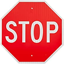 """MUTCD # R1-1 Traffic Sign, Legend """"Stop"""", White on Red"""