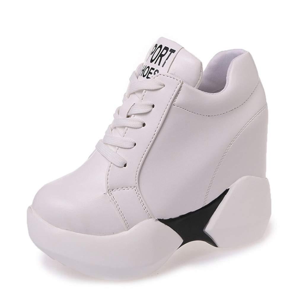 Chaussures Baskets de la Plate-Forme des Femmes Femmes Baskets à l Up intérieur augmenté Interne Chaussures Femme Pompes Oxfords Lace Up Chaussures Blanc 34d28aa - automaticcouplings.space