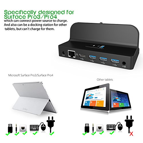 microsoft surface dock fitian docking station charging stand for microsoft surface pro3 pro4. Black Bedroom Furniture Sets. Home Design Ideas