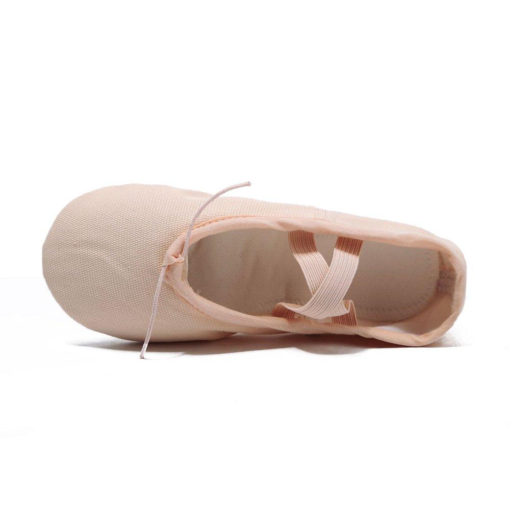 huazhimi Girls Canvas Ballet Slipper//Yoga Shoe//Ballet Shoe Toddler//Little Kid//Big Kid//Women