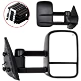 08 chevy 2500 tow mirrors - OCPTY Pair of Towing Mirrors Telescopic Extending Power Heated Tow View Mirror for Chevy/GMC Silverado/Sierra 2007-2013 Models (08 09 10 11 12 models and 07 New Body Style)