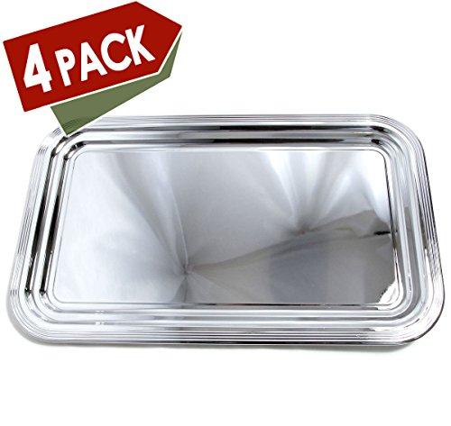 Rectangular Design Plate (Maro Megastore (Pack of 4) 20.9