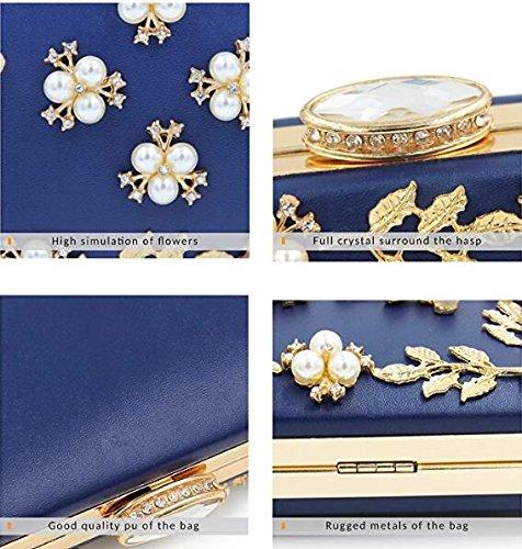 Pochette Perles main Sacs Femmes Sac à Gold Embrayages soirée de 1fFXqw