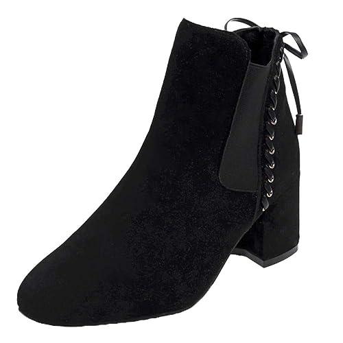 Botas de Tacón para Mujer, Btruely Zapatos de tacón Alto para Mujer Moda Botas de
