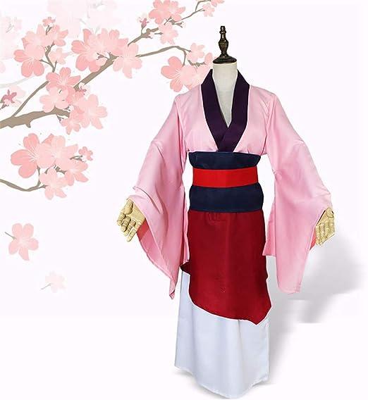 QZ Hua Mulan Vestido Vestido Rosa Princesa Vestido Película ...