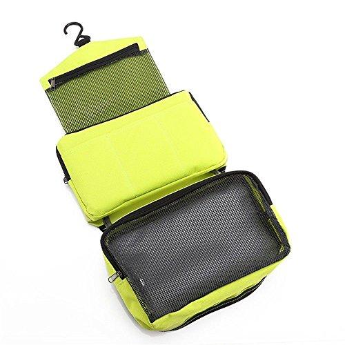 Los artículos de viaje del bolso cosmético pueden colgar la admisión portátil del viaje de los hombres y de las mujeres del bolso impermeable del bolso de la colada de la colada rosa azul Green