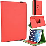 """NuVur Universal Faux Leather ::Rotating:: Folio 8"""" inch Tablet Case Fits Barnes & Noble Nook Color eReader (BNRV200) 