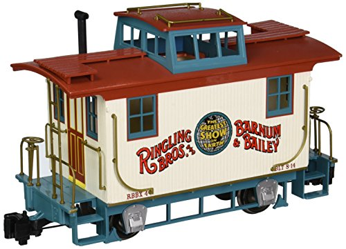 (Bachmann Ringling Bros. Barnum & Bailey - Bobber Caboose #4 - Large G Scale Rolling Stock Train)