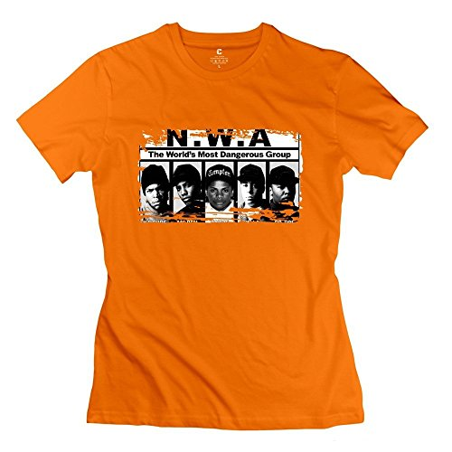 Price comparison product image Cool Straight Outta Compton NWA Team Women's T-shirt Orange Size S