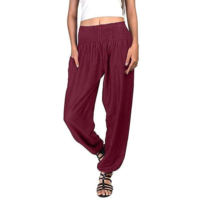 Amazon.com: Dunacifa Pantalones de yoga sueltos para mujer ...