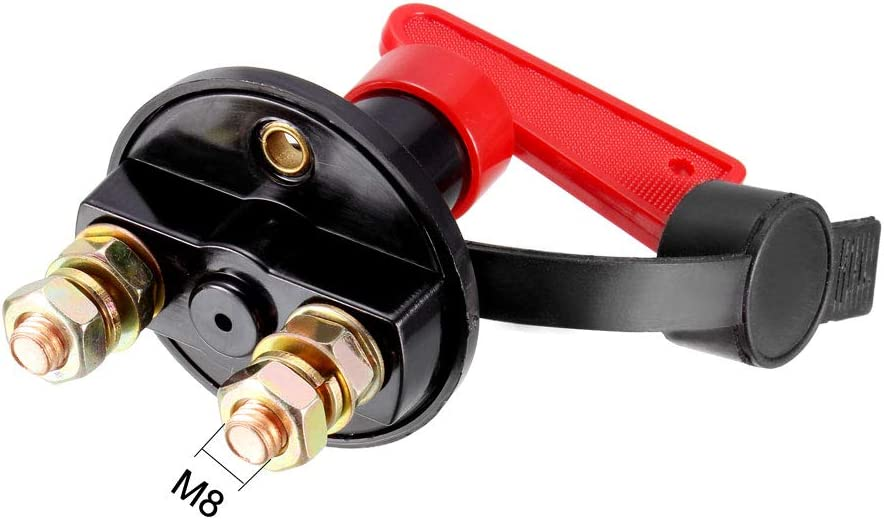 uxcell 60V 200A Battery Isolator Disconnect Cut Off Power Kill Switch with Removable Key for Marine Car Boat RV ATV Vehicles