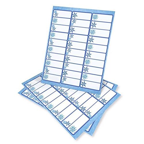 Blue Snowflake Printable Address Labels - 150 Count