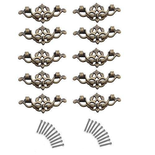 - 10Pcs Drawer Knobs, YIFAN 2.5inch Furniture Cupboard Handles Cabinet Drawer Wardrobe Door Pulls - Bronze