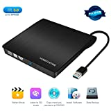 External CD Drive, USB 3.0 External DVD Drive for Laptop/Mac/Macbook, Portable Slim USB DVD Drive External DVD/CD Burner DVD/CD Player - High Speed Data Transfer for Mac/Windows OS - Plug and Play