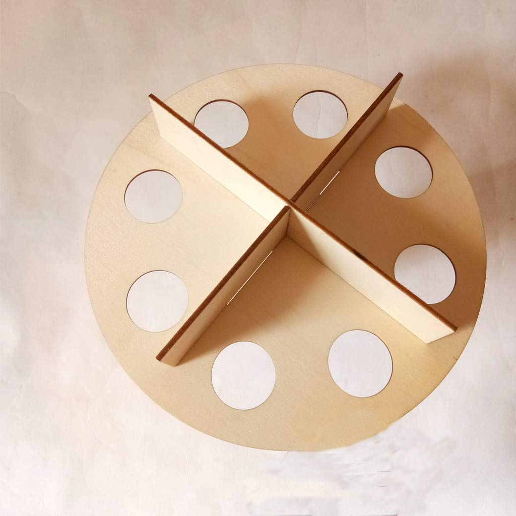 Kariwell Easter Egg Holder Tray, Wooden Creative Easter Egg Shelves for Kids Bunny Pattern Carry Hold Eggs Decor for Home Party by Kariwell (Image #5)