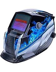 ALLOMN Lasmasker, zonne-lashelm, hoofdgemonteerde verstelbare helm, automatische verduistering, sensor met hoge gevoeligheid, werkt op zonne-energie, volledig schaduwbereik 4/9-13