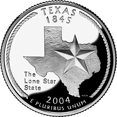 One Roll Uncirculated Statehood Quarter Roll 2004 D Texas Head//Tail