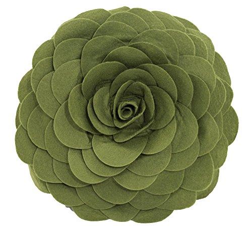 Eva's Flower Garden Decorative Throw Pillow With Insert - 13 inch Round (Kiwi-Case Only)