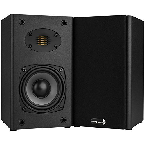 Dayton Audio B452-AIR 4-1/2″ 2-Way Bookshelf Speaker Pair with AMT Tweeter