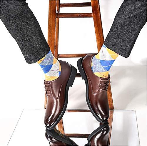 UK Hombres Hombres Ocasionales de 7 Marrón Zapatos de cómodos Hombre US tamaño los los Cuero Zapatos los de de para Arriba HhGold Hombres Encaje Vestir para 8 Marrón de para Color CWAqBtvn
