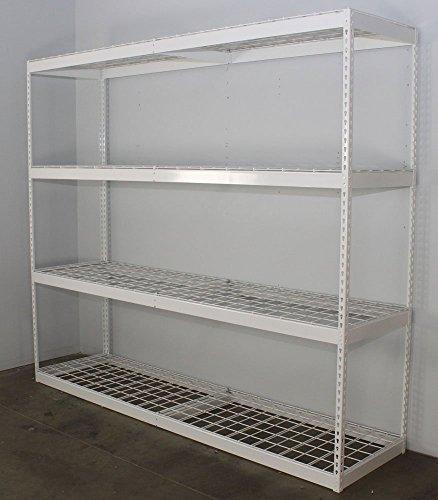 saferacks freestanding shelf steel shelving unit 2 39 d x. Black Bedroom Furniture Sets. Home Design Ideas