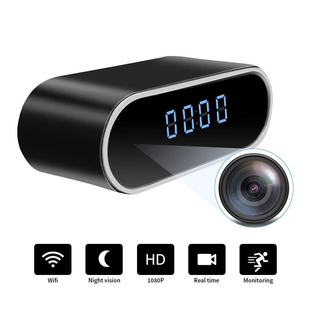 WiFi Spy cámara oculta reloj | Full HD 1080P | Videocámara inalámbrica pequeña en tiempo real | Detección de movimiento con visión nocturna de ángulo de 150 ...
