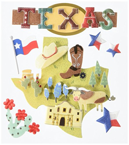 JOLEES 50-21858 Boutique Dimensional Stickers, Texas, (Texas Lighthouse)
