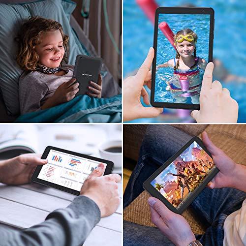VUCATIMES N7 7-Inch Tablet, Android 10.0, Wi-Fi, 16GB ROM, 1.8 GHz Quad-Core Processor, IPS HD Display, Bluetooth4.2, Black
