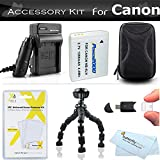 Accessory Kit For Canon PowerShot SX600 HS, SX700 HS, SX610 HS, SX710 HS Digital Camera Includes Gripster Flexible Tripod + Replacement NB-6L (1200mAH) Battery + Ac/Dc Charger + Case + More