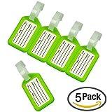 CSTOM® (5pcs,Claro-Verde) Etiquetas para dirección de Equipaje Maleta 230041-GRE