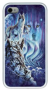 Find 10 Wolves PC hard Case Cover for iPhone 4 and iPhone 4s White