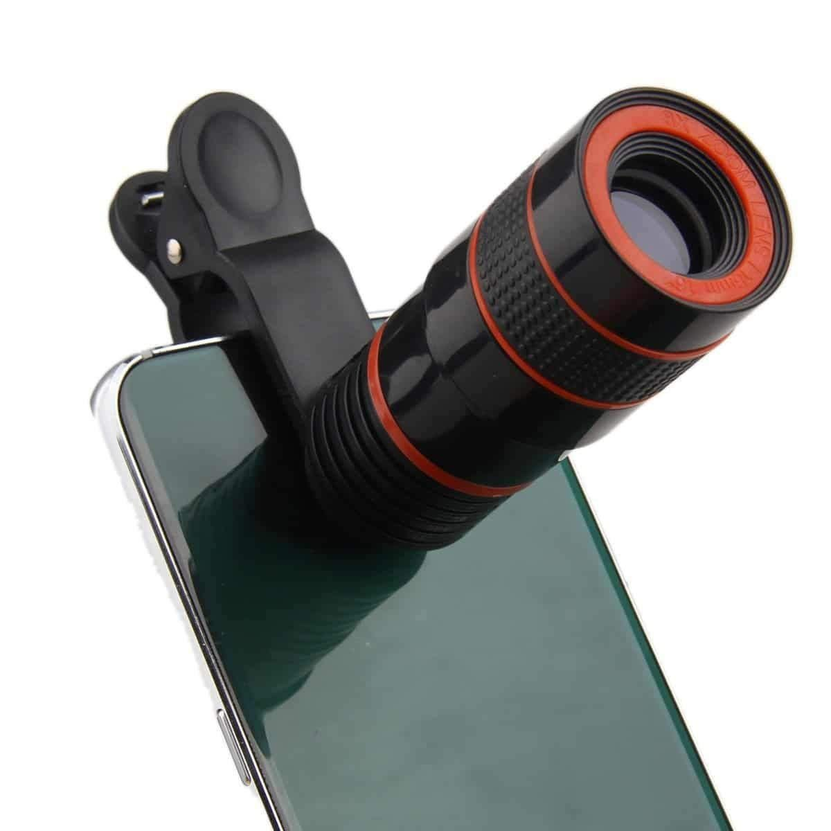 I-Sonite (Black 8X Zoom) Universal Optical Magnifier Telescope Phone Camera Lens Kit, Manual Focus for Also Fit for Oukitel K3 by I-Sonite