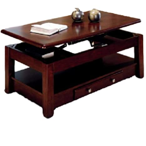 Amazon Com Lift Top Coffee Table Cherry Coctail Casual Function